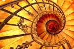 Spiral staircase in St. Stephens's Basilica in Budapest