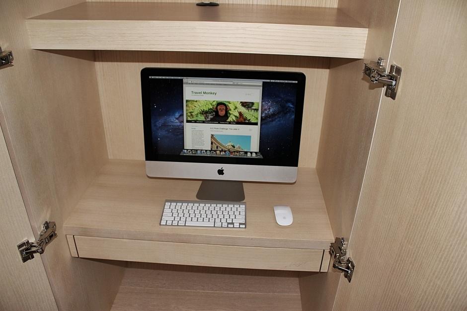 Computer center in the bedroom