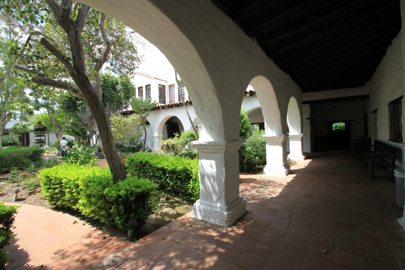 This beautiful garden area was not part of the original mission but was added in the early 1930s