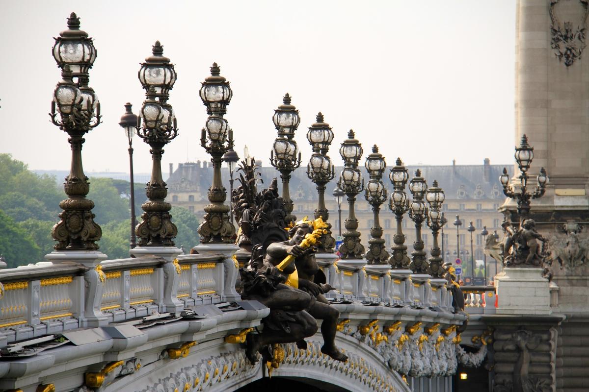 The Paris bridges are beautiful and romantic