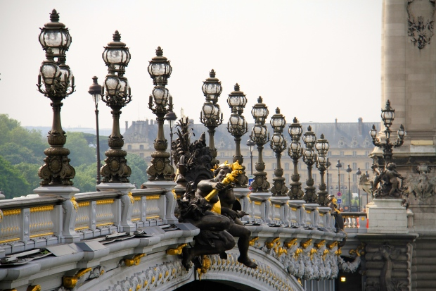 The Paris bridges are beautiful and romantic
