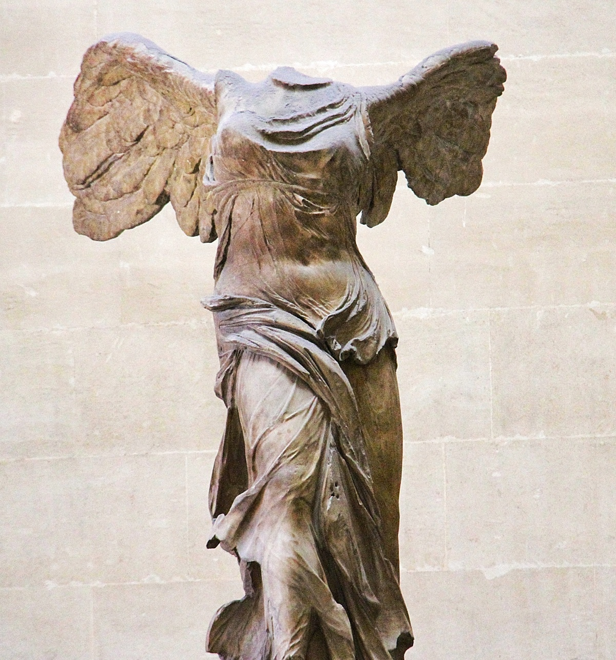 The Winged Victory of Samothrace.  From the second century BCE.  Discovered in 1863.