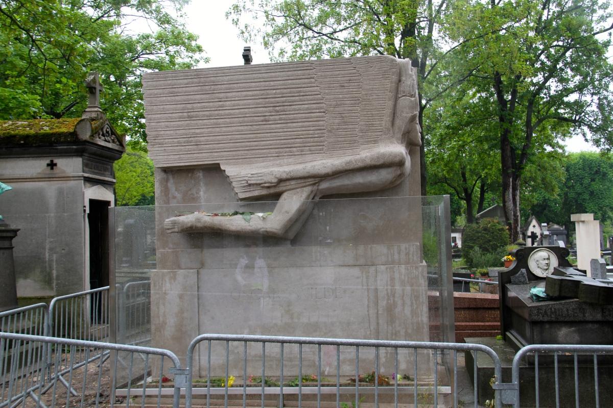Oscar Wilde's gravesite.