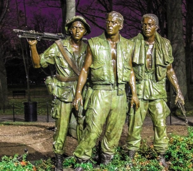 Bronze statues at the Vietnam War Memorial