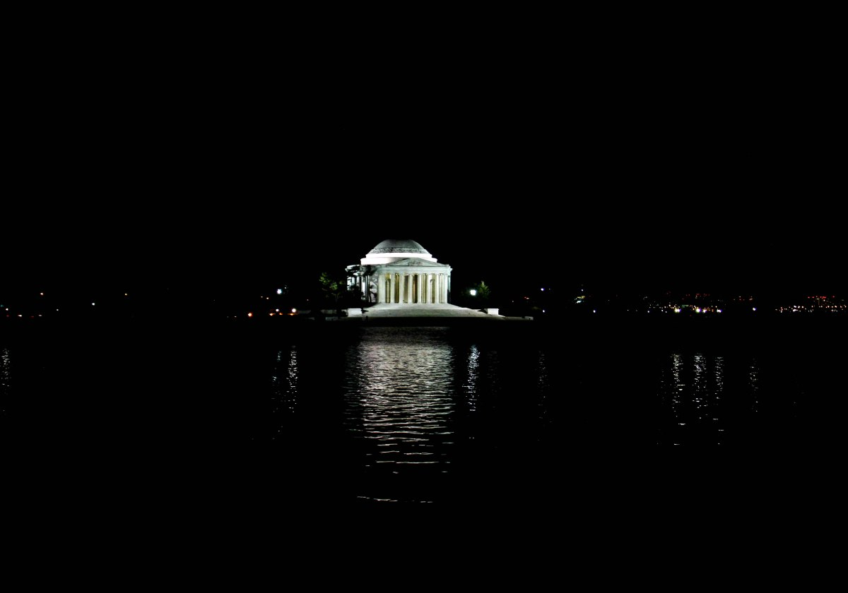 The Jefferson Memorial from across the Tidal Basin.