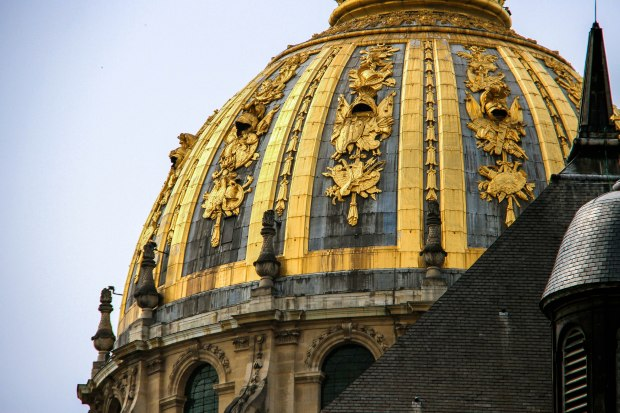 The unmistakable Dome des Invalides is a dominating feature of the Parisian landscape