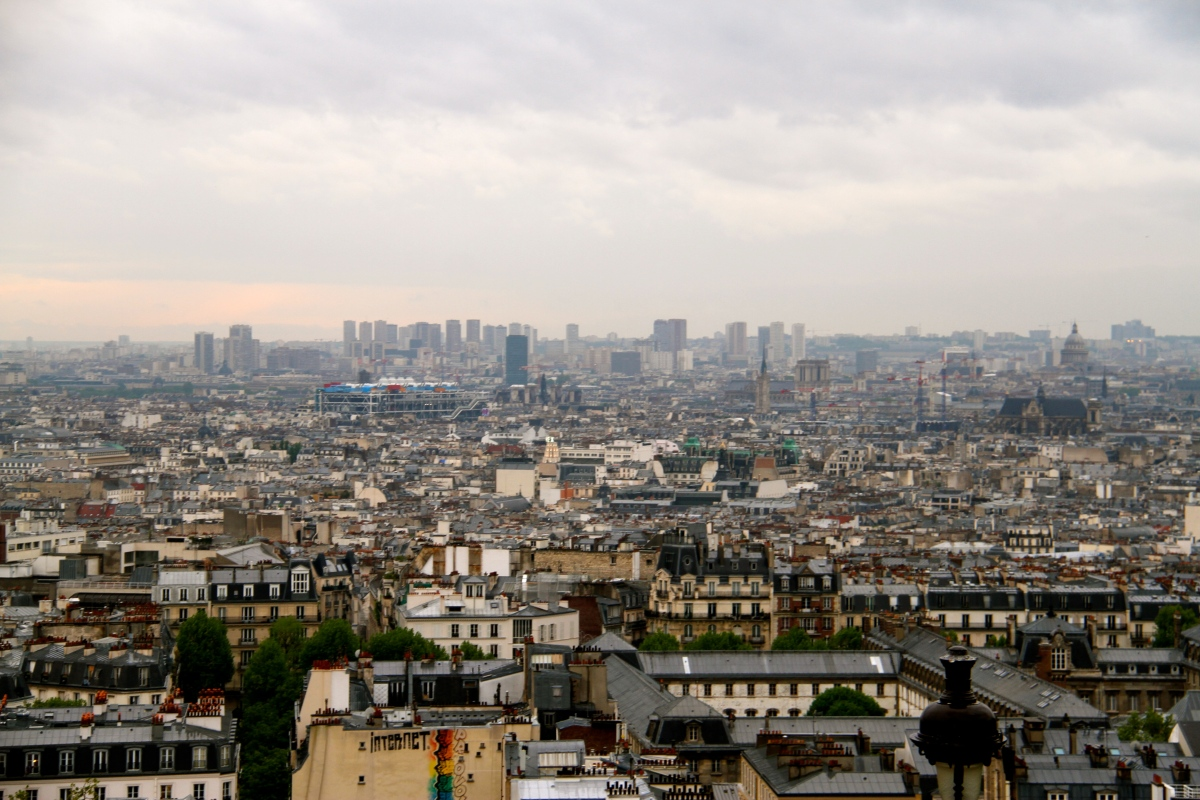 View of Paris from the front steps of the Basilica.