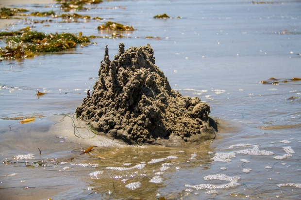 The inevitable end of a sand castle