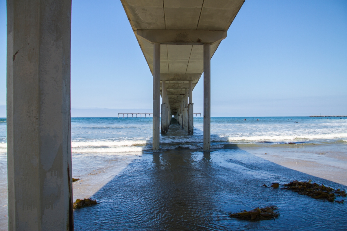 Under the pier at Ocean Beach