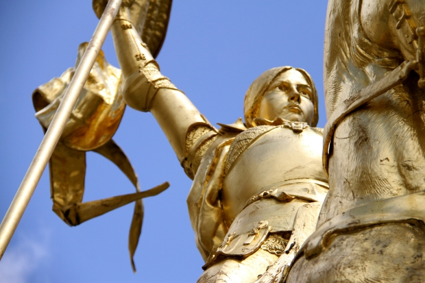The color YELLOW.  Joan of Arc in Paris