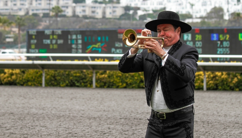 The bugler calls each race with the classic race melody.