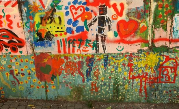 Colorful graffiti on a wall in Bratislava, Slovakia