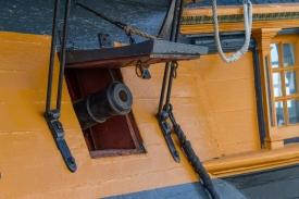 Gunport on HMS Surprise