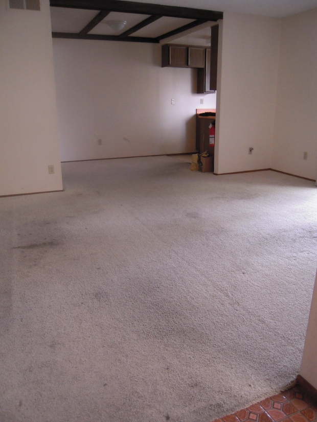 BALTIMORE CONDO BEFORE - Living to Kitchen