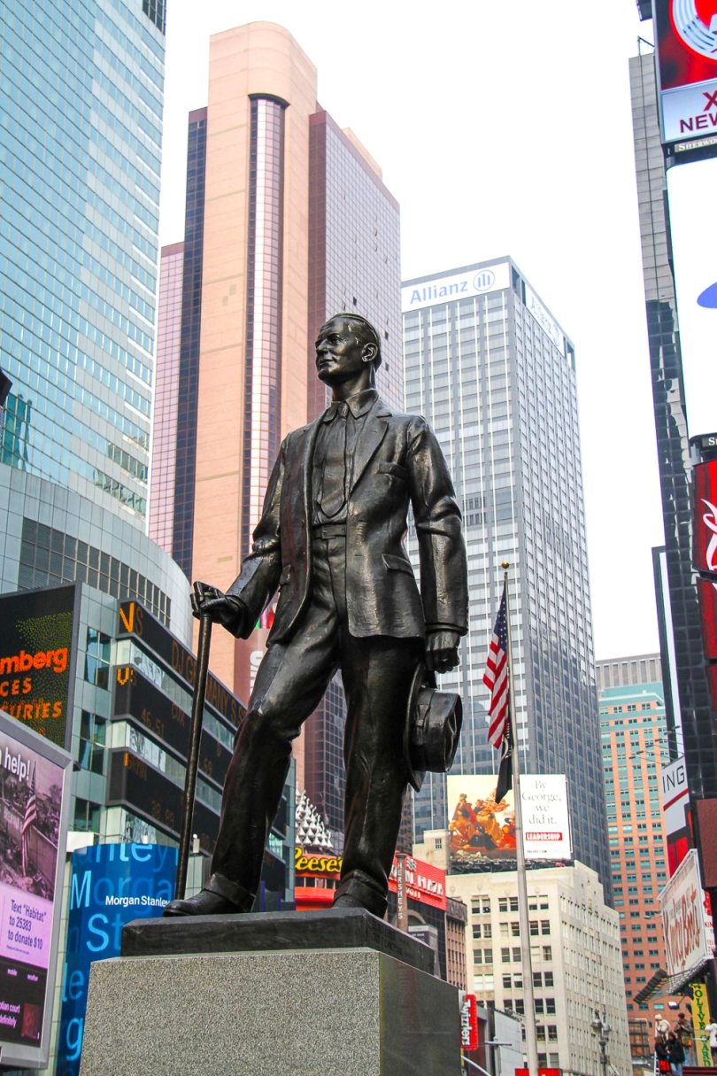 "George ""Give My Regards to Broadway"" Cohan, Times Square NYC"