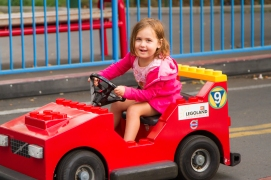 A granddaughter at Legoland, California