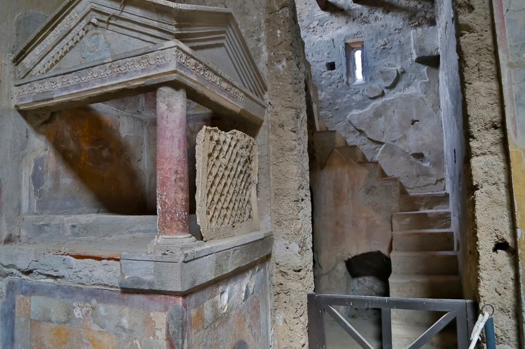 A spot for the household gods in a Pompeii home.